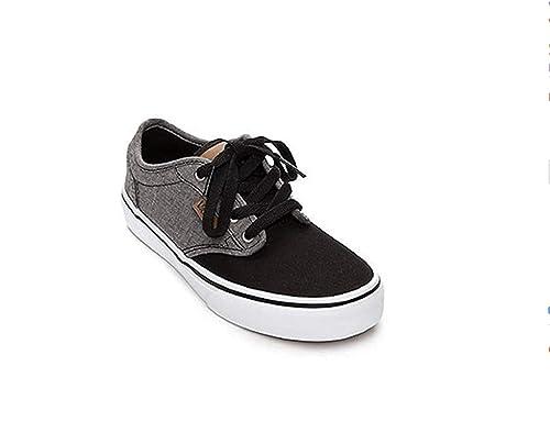 VansVN0A349PO1O - Zapatillas de Skate Vans Atwood (Mezcla) Negro/Gris para niños Niños, Unisex, Gris (Negro/Gris), US 1: Amazon.es: Zapatos y complementos