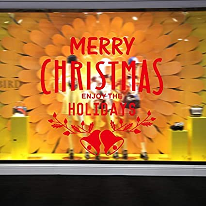 Amazon Com Vinyl Wall Decals Merry Christmas Enjoy The