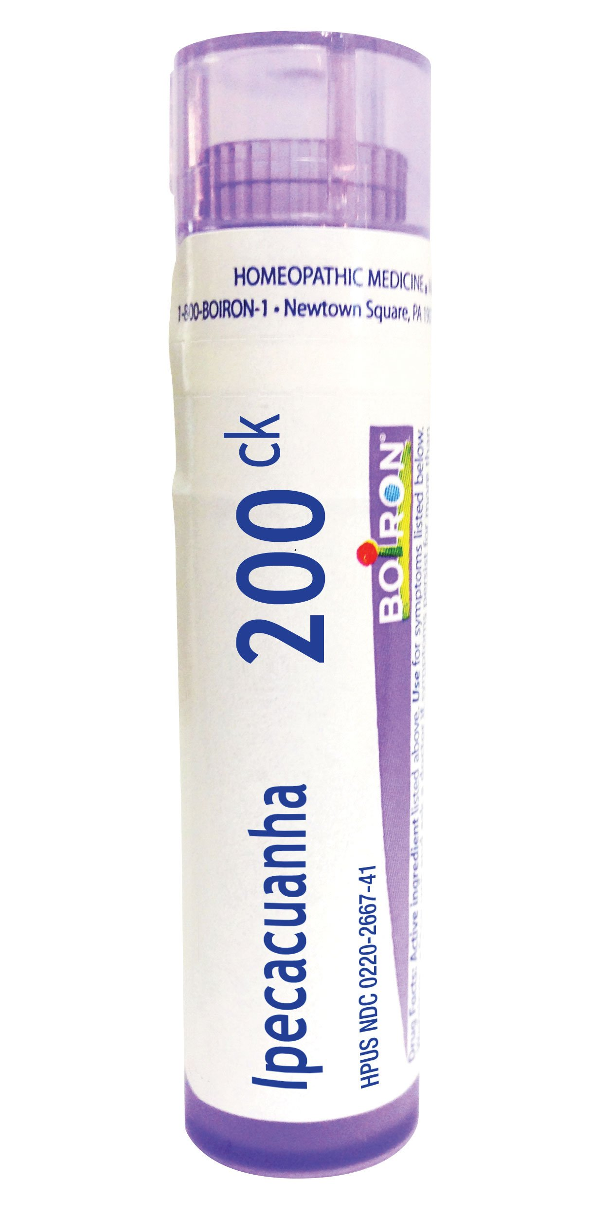 Boiron Ipecacuanha 200C, 80 Pellets, Homeopathic Medicine for Nausea