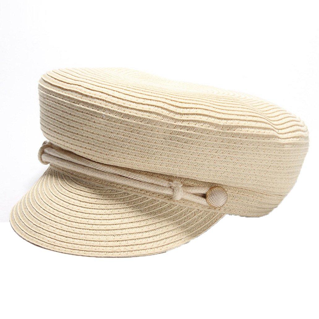 August Jim Summer Hats for Women, Newsboy Fashion Elegant Ladies Beret Octagonal Cap