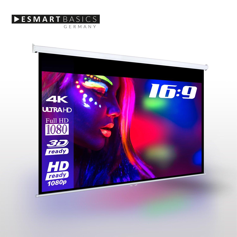 Pantalla de proyección enrollable de eSmart, 240 x 135 cm (formato ...