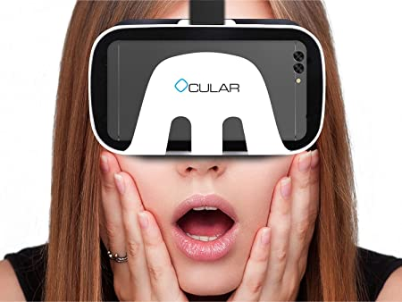 Ocular Drag Virtual Reality Glasses  ndash; Fully Adjustable VR Headset with 42 MM Lenses  amp; Compatible with 4.5 rdquo; 6 rdquo; Smartphones