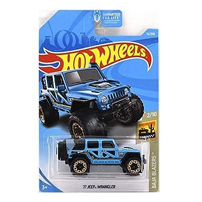 Hot Wheels 2020 Baja Blazers \'17 Jeep Wrangler 13/250, Blue: Toys & Games [5Bkhe0203310]