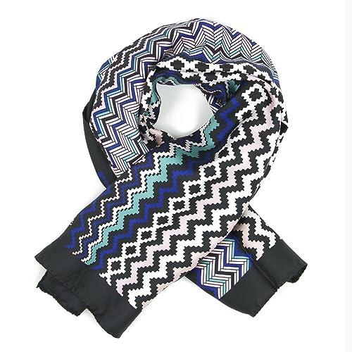 Missoni - Bufanda para mujer, color azul
