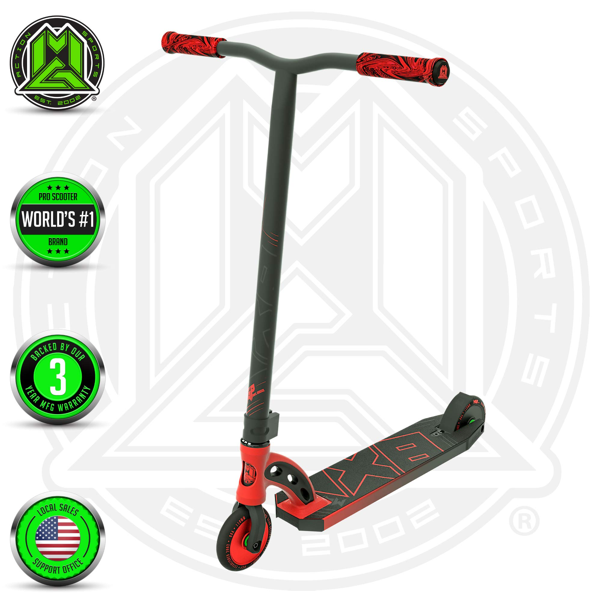 Madd Gear MGP VX8 Freestyle Pro Scooter - Red/Black