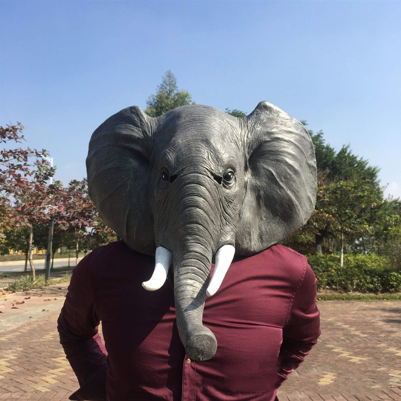 YYF-MáSCARA de Elefante de Halloween Mascarada Elefante Africano ...
