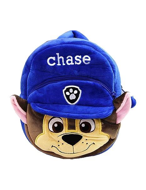649ab12a090b YOURNELO Kid s Plush 3D Paw Patrol Preschool Baby Toddler Knapsack Schoolbag  Bag (Chase)