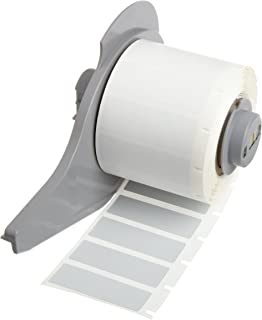Brady BM71-111-145-GY 0.758 Width x 1.206 Height Gray Color B-145 Rigid Polyethylene Tag With Matte Finish For BMP71 Label Printer 1000 Per Roll