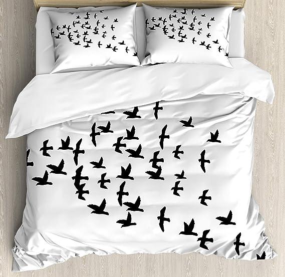 Conjunto de funda nórdica Crow, Birds Gang se unió para volar en ...