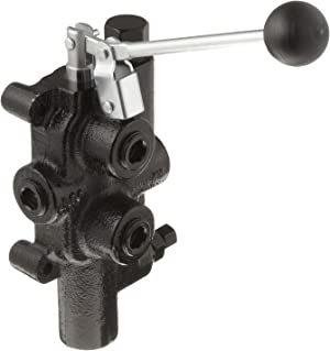 Prince LS-3000-2 Directional Control Valve, Logsplitter, 4 Ways, 3 Positions, Spring Center to Neutral, Cast Iron, 2750 psi, Lever Handle, 25 gpm, In/Out: 3/4