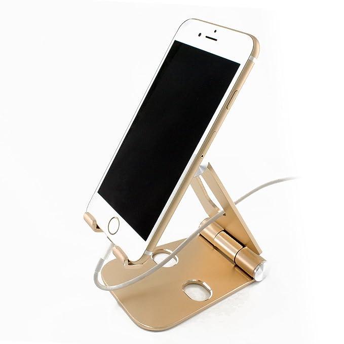 WELUV Teléfono de Doble Plegable Stands Soporte de Mesa Aluminio y ...