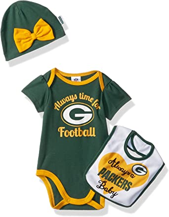 Green Bay Packers Watching With Mommy Baby Short Sleeve Bodysuit