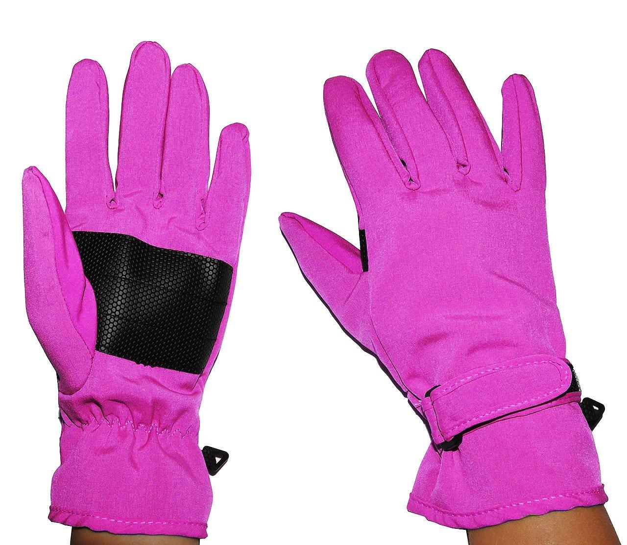 Unbekannt Fingerhandschuhe Softshell - rosa pink - Thermo gefüttert mit Fleece - dünner Thermohandschuh - Größe: 4 bis 5 Jahre - wasserdicht + atmungsaktiv Soft Shell -.. Kinder-land