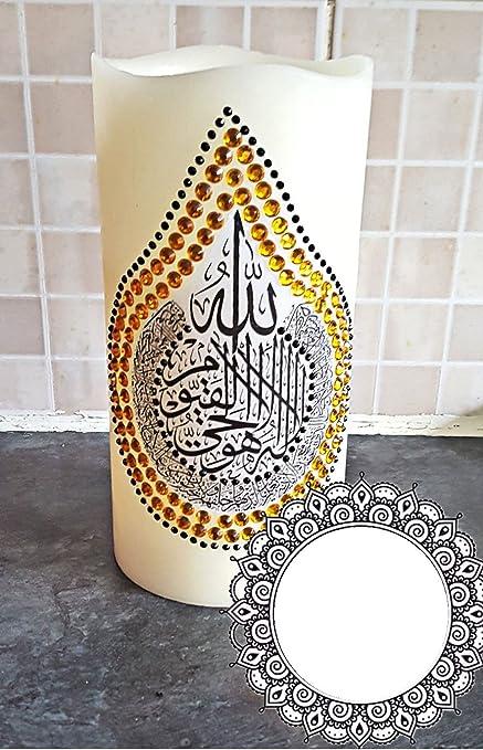 Eid Wedding Islamic LED Candles for Ramadan Hajj Umrah Gift Home Decore