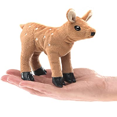 Folkmanis Mini Fawn Finger Puppet Plush: Toys & Games [5Bkhe0502802]