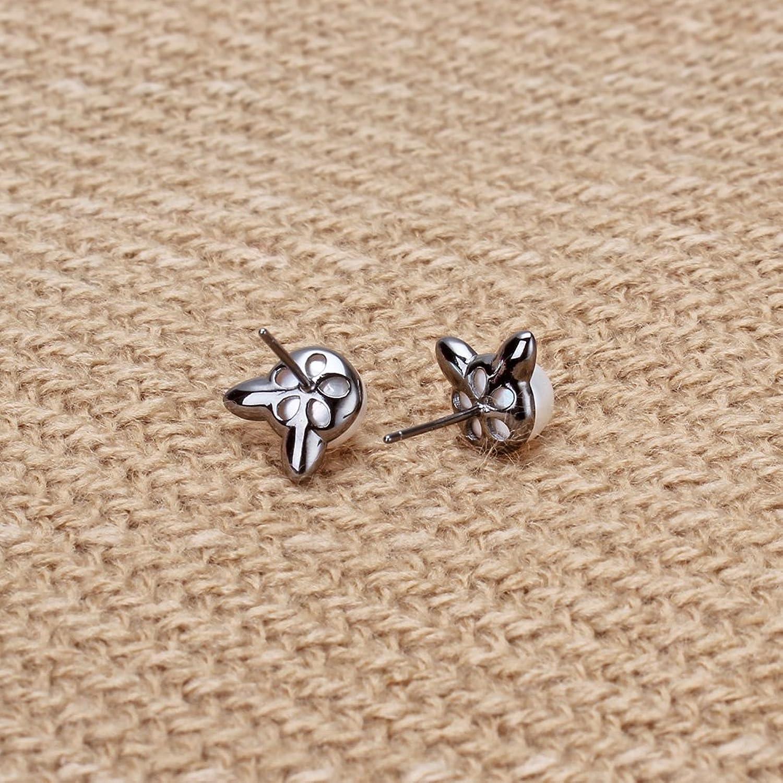 Amazon.com: Rolove Cute 925 Sterling Silver Cat Ear Earrings ...