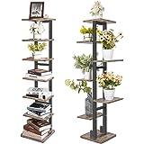 X-cosrack 7 Tier Bookshelf Organizer Tree Bookcase,Industrial Ladder Shelf,Free Standing Books Storage Rack Shelves for Home