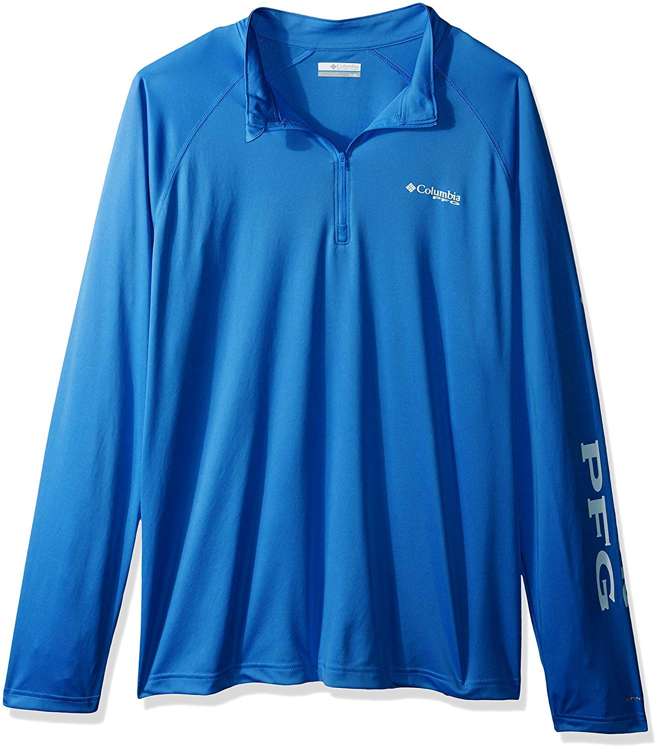 Columbia Men's Terminal Tackle 1/4 Zip Collegiate Navy, Sunset Red 4X by Columbia