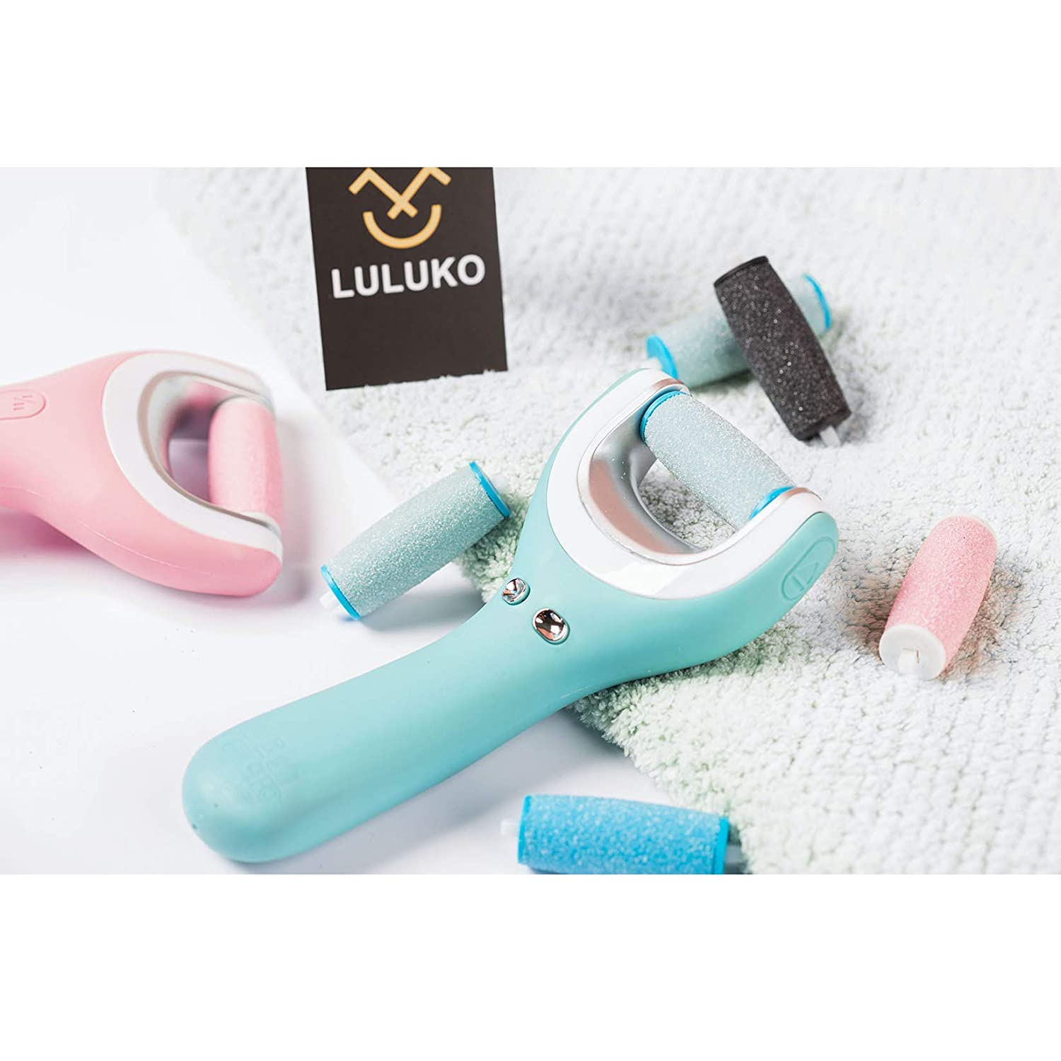 6Extra Coarse & 3Regular Coarse Replacement Roller Refill Heads Compatible with PediPefect Electronic Foot File : Beauty