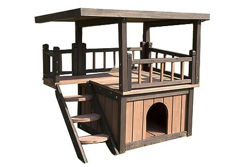 Perrera Casita para perros y gatos madera maciza W20017-S/1997