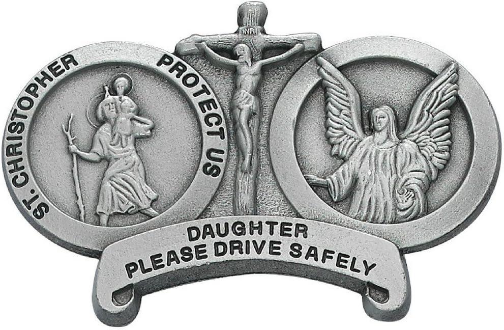 All Patron Saints St Christopher Daughter Drive Safely Auto Visor Clip