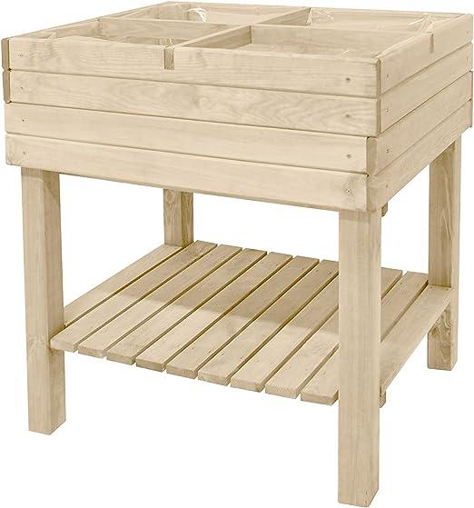 Bancal, madera de pino 79 x 59 x 79 Stand Bancal Maceta Bancal ...