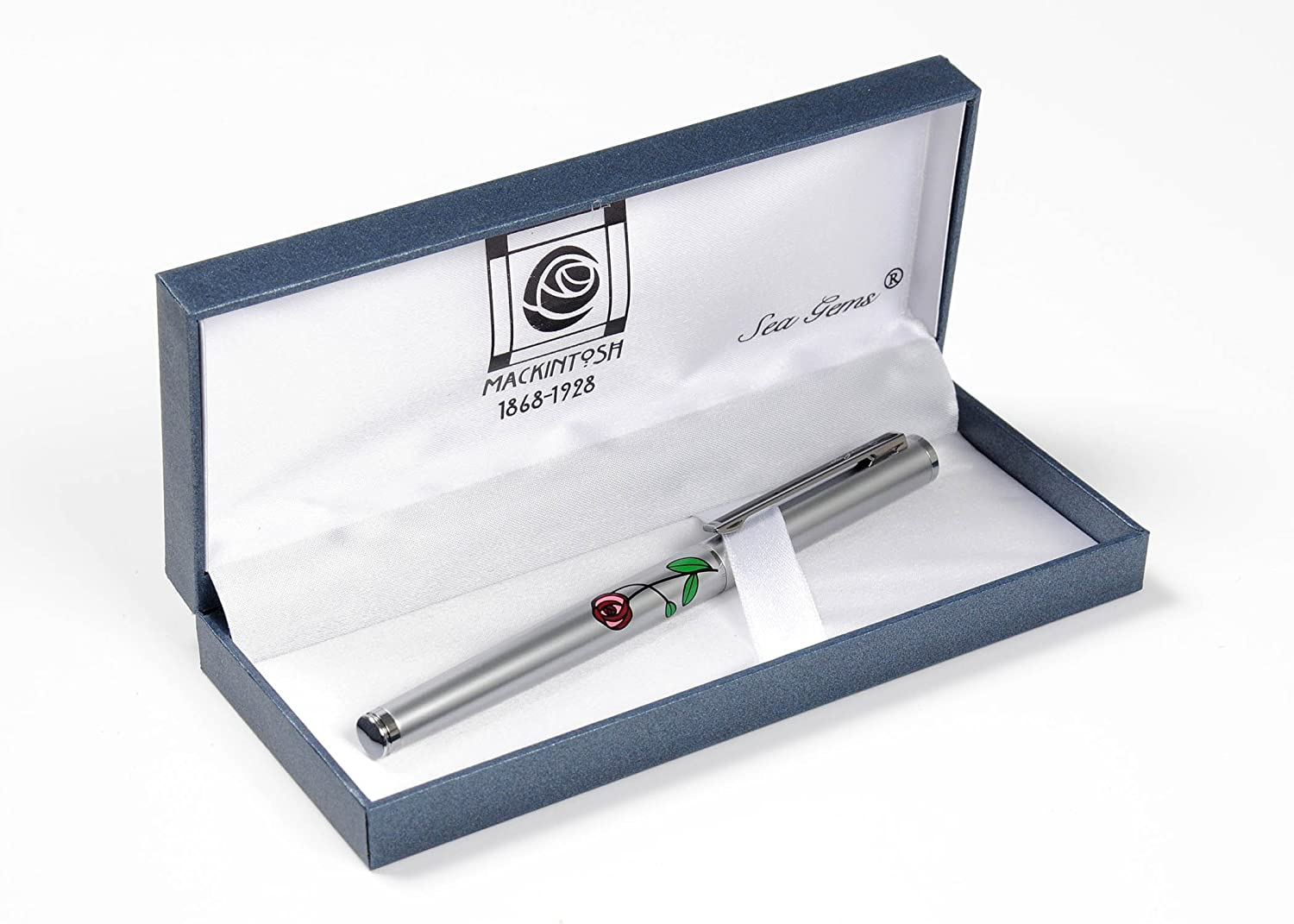 Mackintosh Roses Ballpoint Pen Silver Plated Brand New Boxed Various Colours