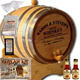 Personalized Outlaw Kit (Irish Whiskey) From American Oak Barrel - Design 063: Barrel Aged Whiskey (2 Liter)