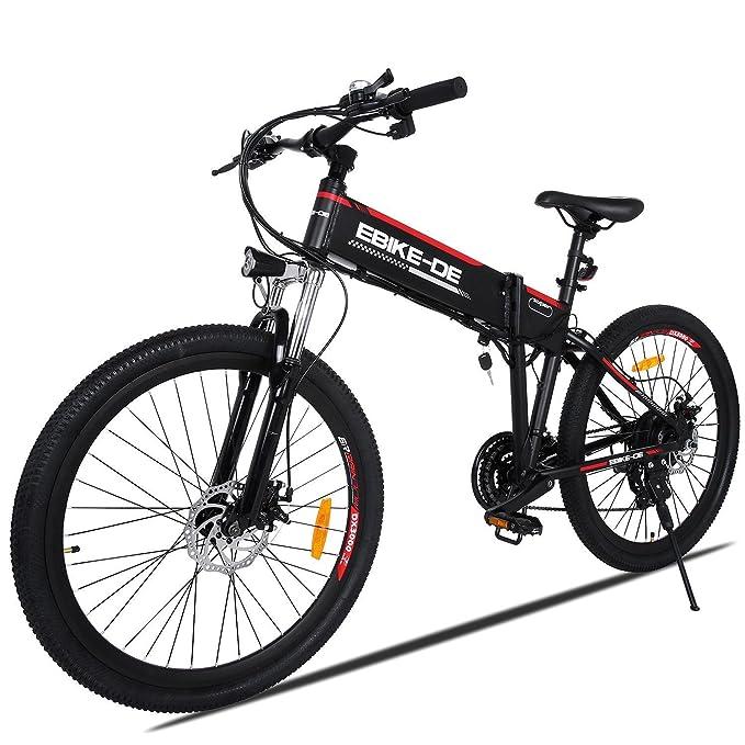 mymotto 26 Pulgadas Exterior 250 W Alta Velocidad Eléctrica Bicicleta de Montaña Aleación de Aluminio 36 V 8 A Bicicleta Eléctrica (Type 2): Amazon.es: ...