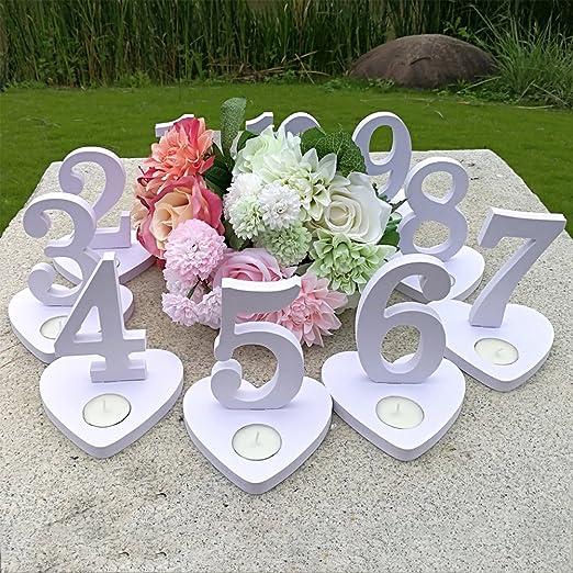 10 piezas de 1 – 10 mesas de números de boda, tarjetas de asiento ...