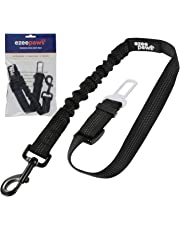 Ezee Paws Anti Shock Pet Dog Seat Belt Lead Clip for Car Safety Bungee Adjustable Travel Harness