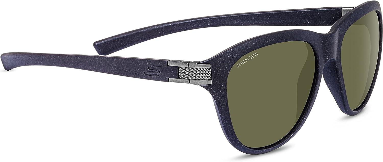Serengeti Elba Gafas de Sol, Color Sanded Black Glitter/Satin Gun ...