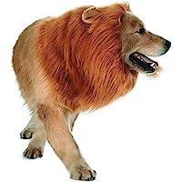Dog Lion Mane,Pet Cat Lion Mane Wig Costumes with Ears,Adjustable Fancy Lion Hair for Halloween Costume (Dog Lion)
