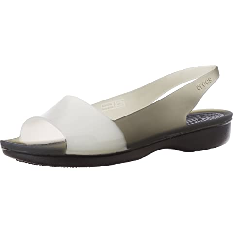 Crocs Women's ColorBlock Flat W Rubber Fashion Sandals Fashion Sandals at amazon