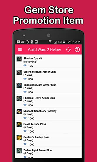 Amazon com: GW2 Helper - Event Timer, Daily, Account: Appstore for
