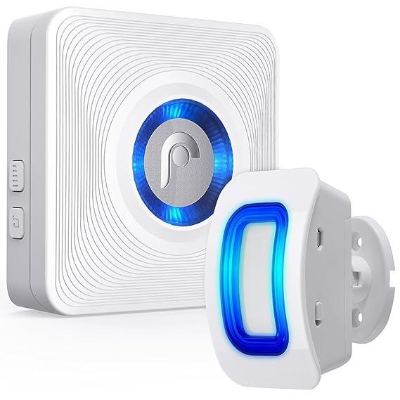 Fosmon Durchgangsmelder/Bewegungsmelder/Ladenglocke/Alarm-System/Tür-Klingel & Fenster Sensor/[Wireless|Erweiterbar|Batterie|