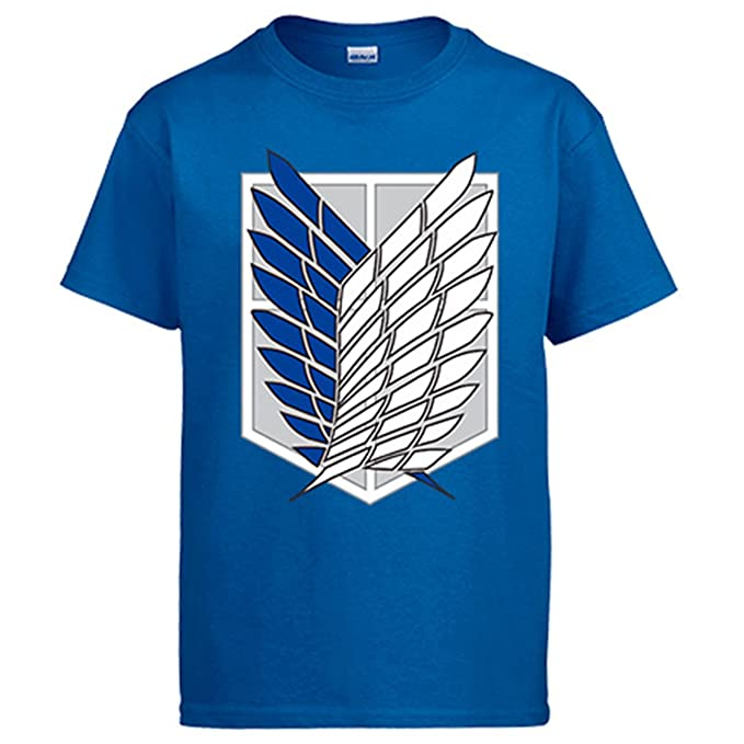 Camiseta Wings of Freedom – Attack on Titans - Anime - Color Gris AZULON - 100% Algodón - Serigrafía de Alta Calidad grj5XHclt9