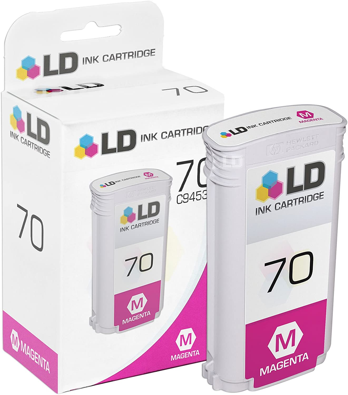 LD Remanufactured Ink Cartridge Replacement for HP 70 C9453A (Magenta)