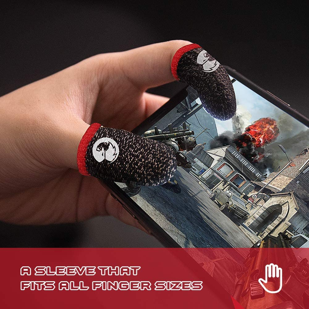 GameSir Talons Mobile Game Controller Finger Sleeve Sets Anti-Sweat Breathable Full Touch Screen Sensitive Shoot Aim Joysticks Finger Set for PUBG//Knives Out//Rules of Survival 1 Pack