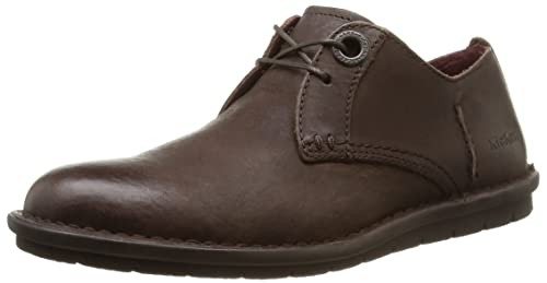 Kwamie Lo MOCC, Zapatos de Cordones Derby para Hombre, Marrón (Dark Brown Dark Brown), 41 EU Kickers