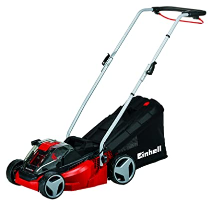 Einhell GE-CM 33 Li Kit Power X-Change 36 V Lithium Cordless Ion Lawnmower  with Fast Charger (2 x 18 V, up to 200 sq m, 5-Stage Cut Height Adjustment)