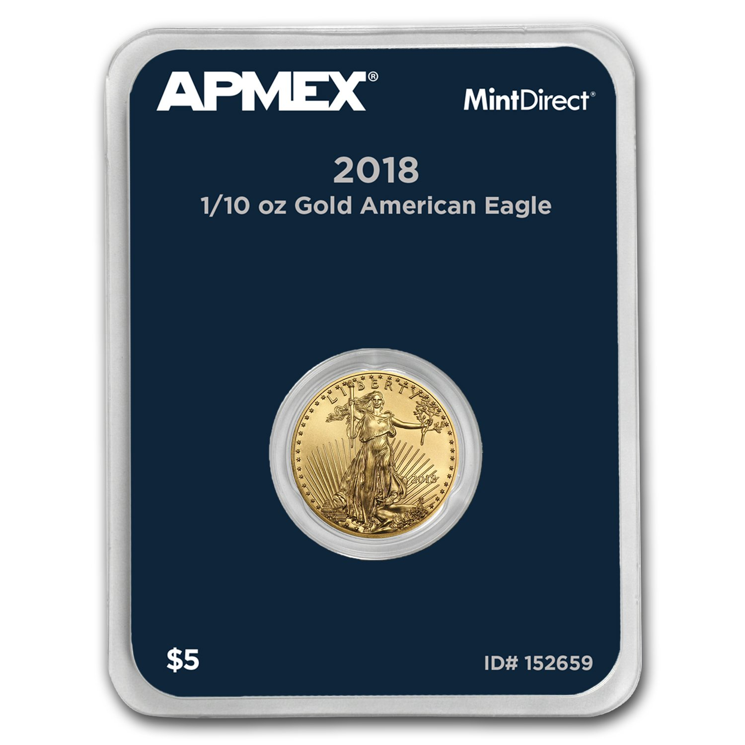 2018 1/10 oz Gold American Eagle (MintDirect Single) Gold Brilliant Uncirculated