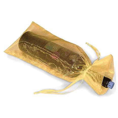Botella de vino de regalo bolsa de Organza bolsas * Paquete de 20