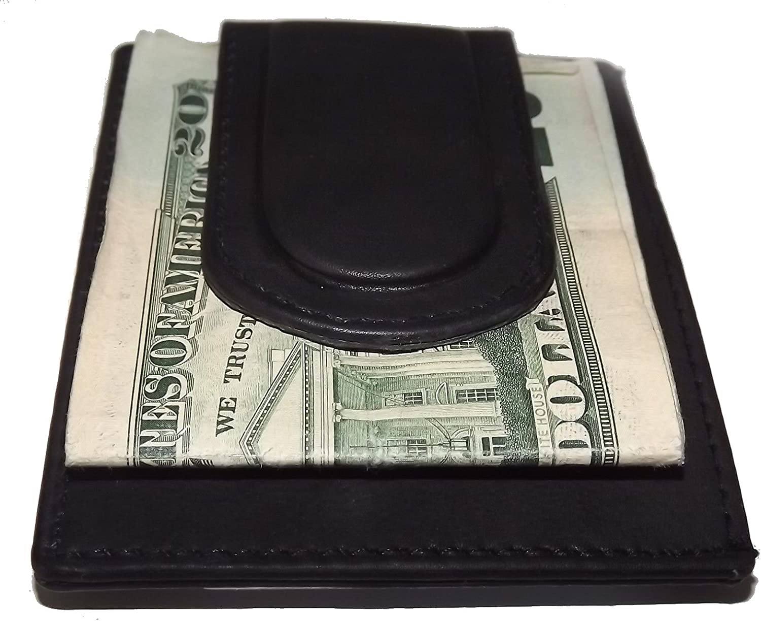 Custom 12 Gauge Shotgun Paul and Taylor Money Clip Wallet Black