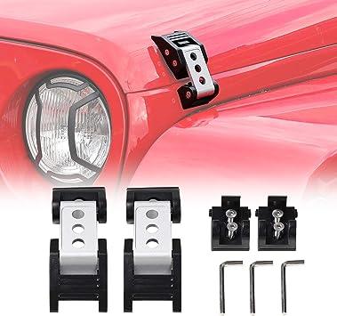 Red Painted Exterior Hood Latch Catch Lock Key Pin Kit For Jeep Wrangler JK JKU
