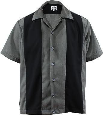 Bolos Camiseta Worker Camisa Rockabilly Two Tone Gabardine Lounge 50 Vintage Retro Double Panel