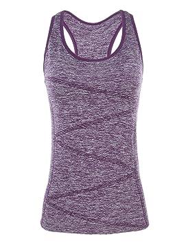Disbest Débardeur et Tops de Sport Gilet Femme T-Shirt sans Manches Yoga  Fitness Elastic d548cf105da