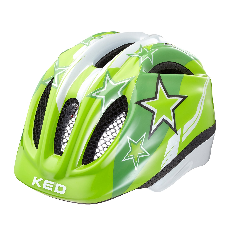 Fahrradhelm Kinderhelm Ked Meggy 2017 inkl Klackband Speichenreflektoren Green Stars XS 44 49cm Amazon Sport & Freizeit