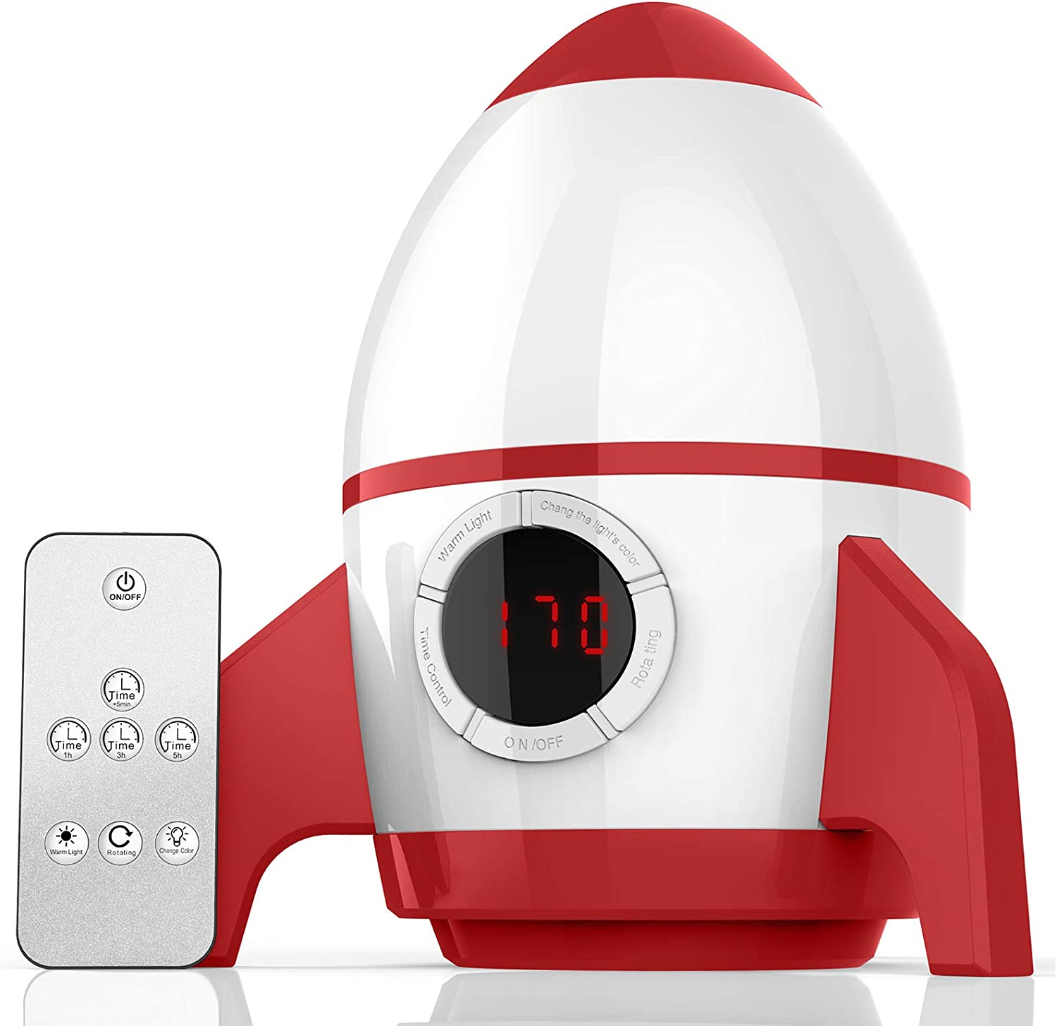 Aisuo Star Night Light for Kids, Rechargeable Lighting Lamp with Timer, Remote Control & Rotating £9.99 @ Amazon