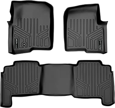 Husky Liners Heavy Duty Floor Mats For 2004-2008 Ford F-150 Super Cab  Black